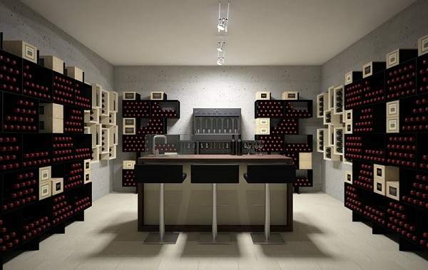 Arredamento per cantina versione box for Arredamento cantina vino