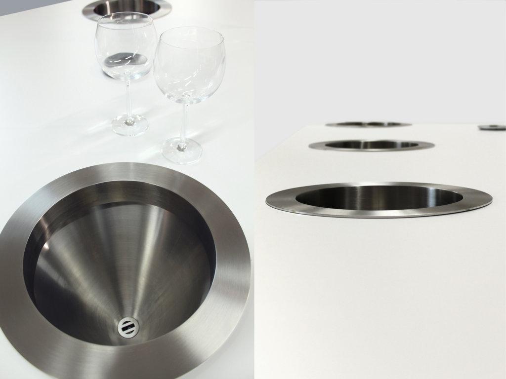 foto doppia lavandini tavolo degustazione professionale esigo