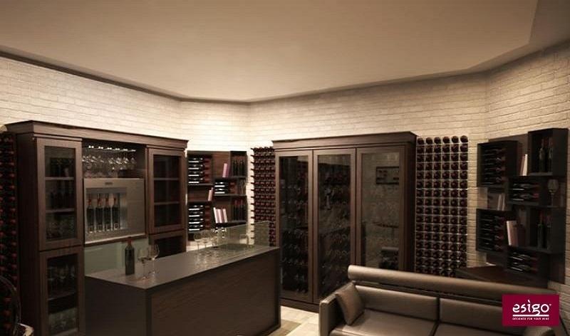 Arredamento Esigo per wine room