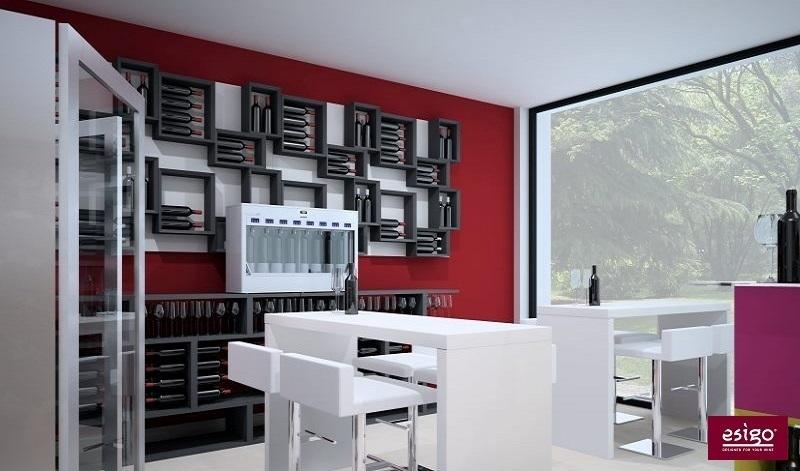 Portabottiglie dal design moderno Esigo