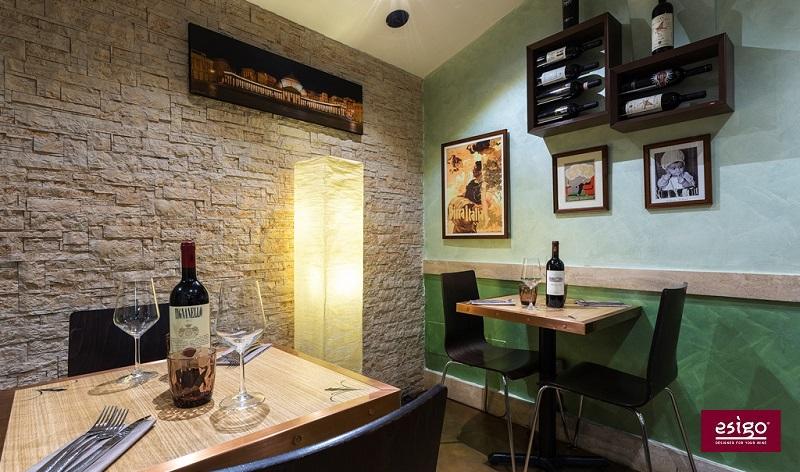 Arredamento vino personalizzato per ristorante for Arredamento personalizzato