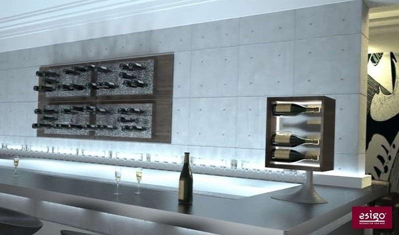 Arredamento moderno per wine bar