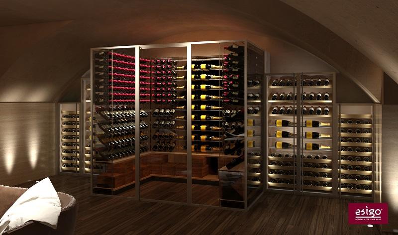 Stanza vino su misura Esigo