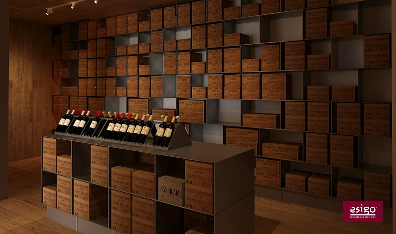 Stanza vino su misura EsigoStanza vino con Esigo 2 net ed Esigo 2 box