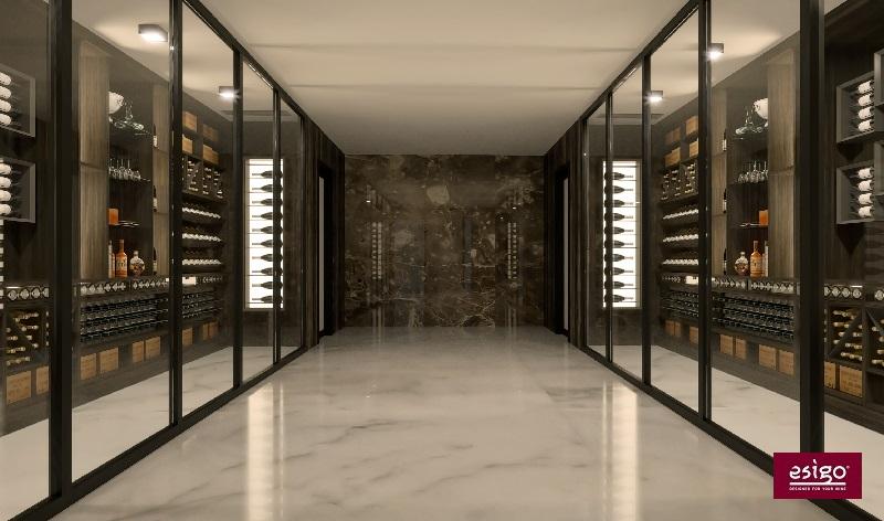 Stanza vino su misura EsigoStanza vino con Esigo 2 net ed Esigo 2 boxStanza vino con Esigo con cantinetta refrigerata