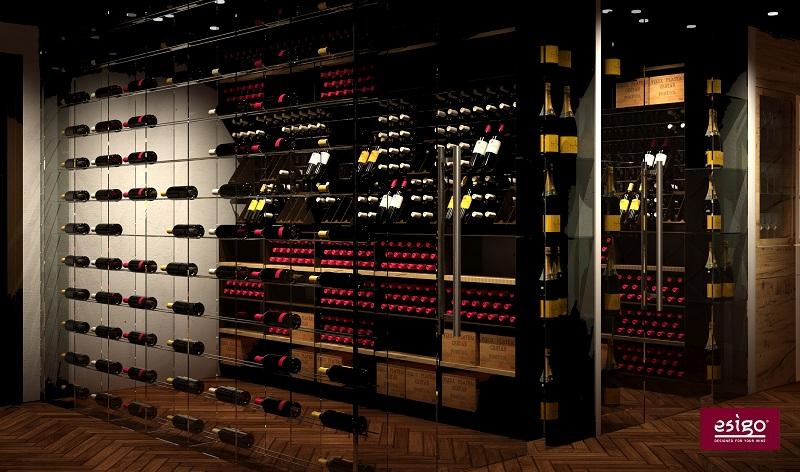 Stanza vino Esigo completa di climatizzatore