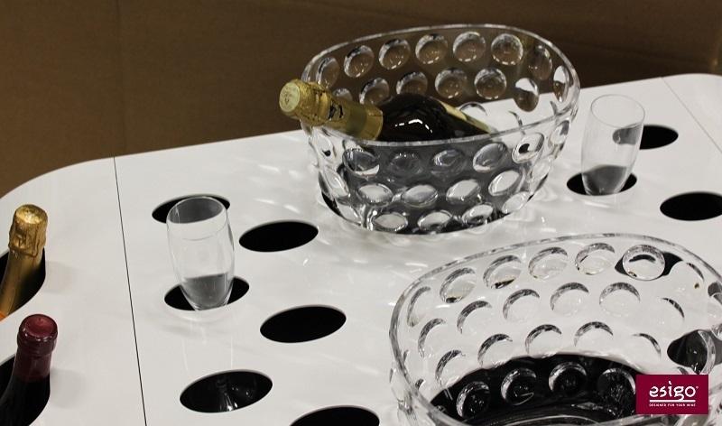Carrello porta bottiglie vino Esigo