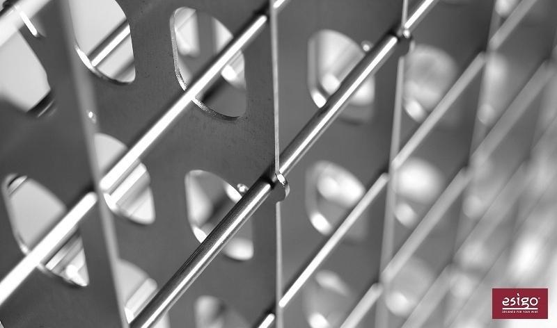 Portabottiglie in acciaio inox Esigo 2 Net