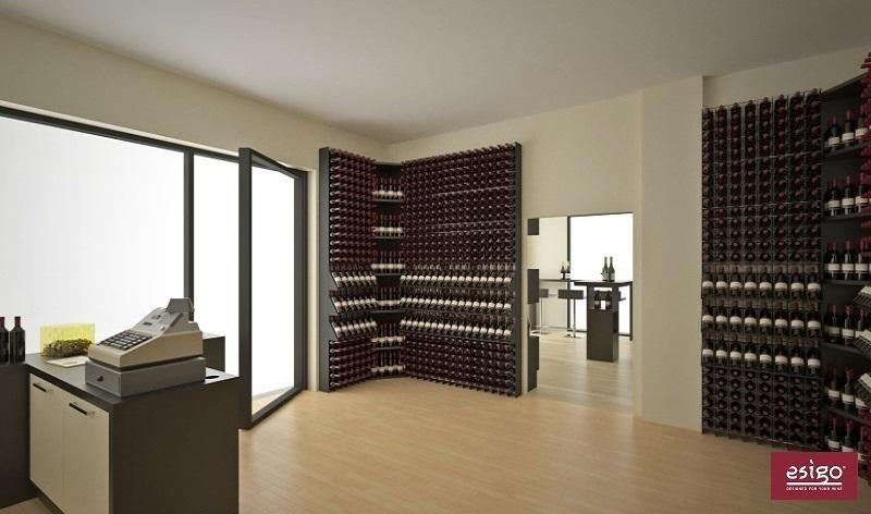 Gallery portabottiglie esigo 2 net - Porta vino da parete ...