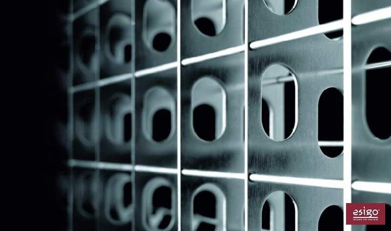 Espositore porta vini in acciaio Esigo 2 Net