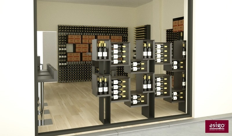 Portabottiglie moderno in legno Esigo 5 Floor