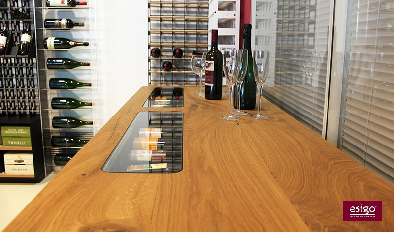 Mobile vino in legno