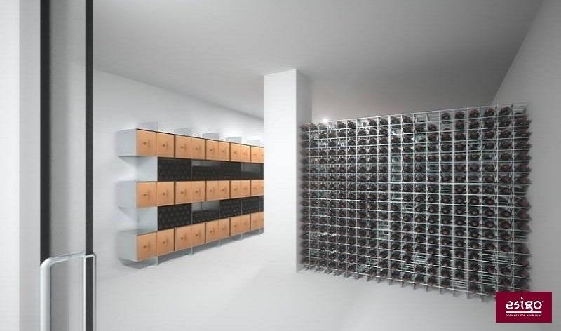 Portabottiglie da parete Esigo 2 Box