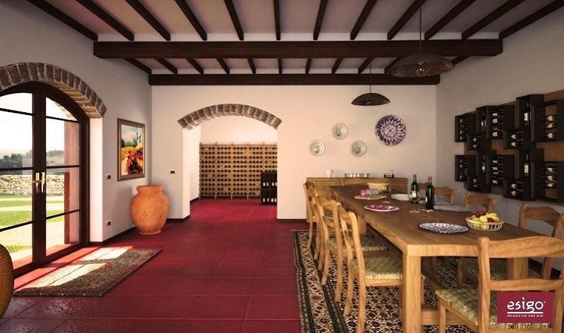 Gallery cantinetta esigo 2 classic - Porta vino da parete ...