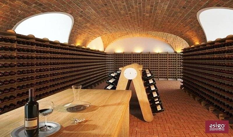 Espositore porta vino in legno Esigo 3 Classic Champagne