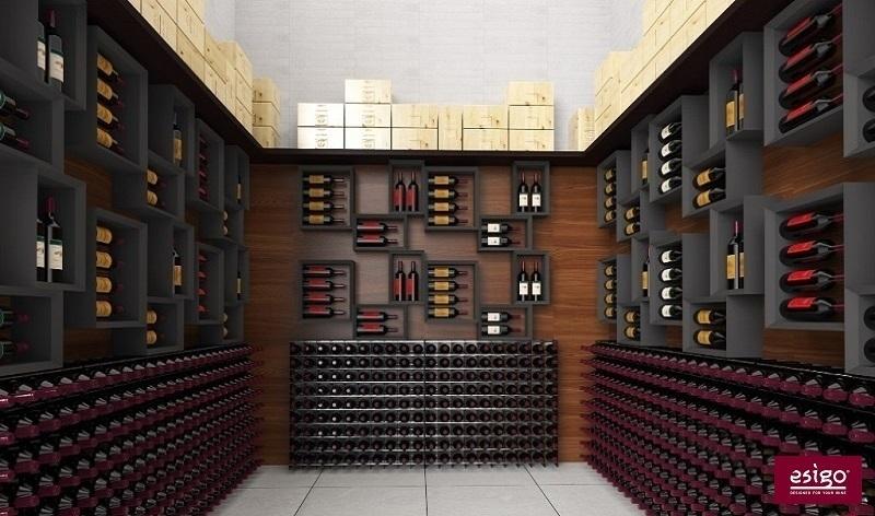 Porta bottiglie vino in legno Esigo 5
