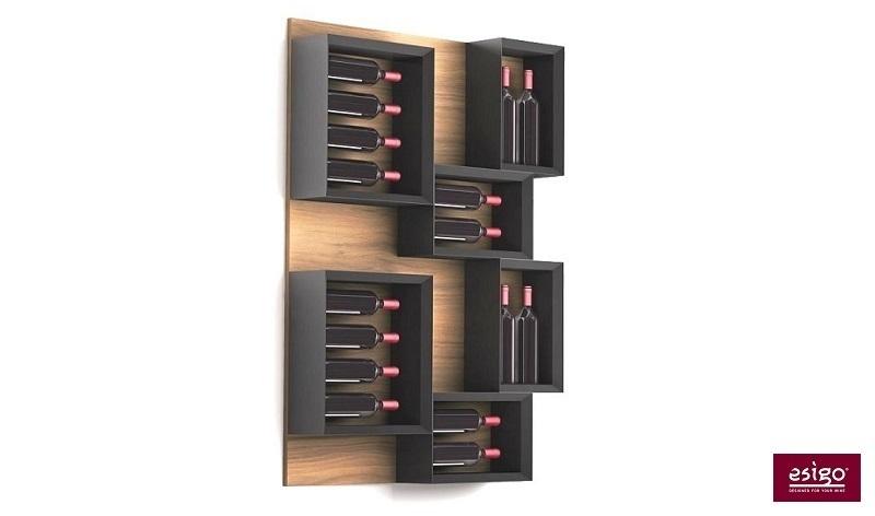 Espositore porta vini in legno Esigo 5