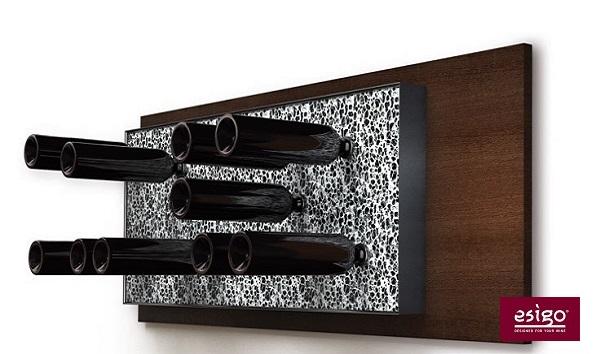 Espositore porta vini in alluminio Esigo 6