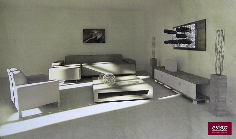 Portabottiglie moderno in alluminio Esigo 6