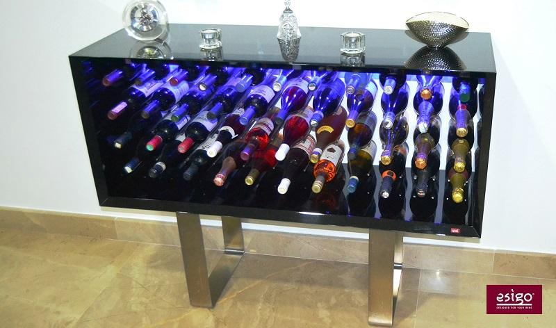 Porta bottiglie design in legno Esigo 9