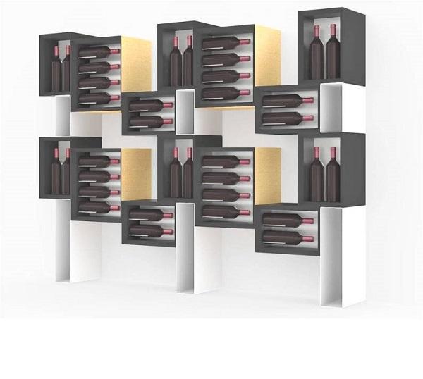 Porta bottiglie vino in legno esigo - Porta vino ikea ...