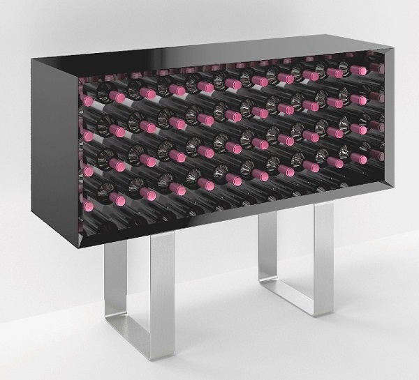 Mobile porta vino in legno Esigo 9