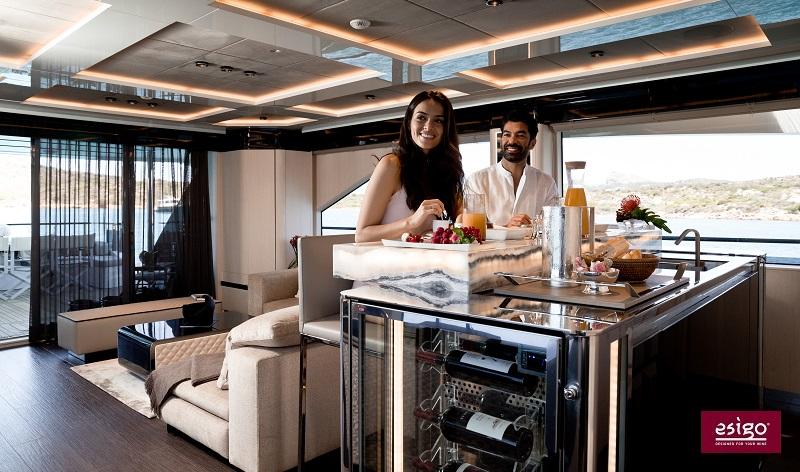portabottiglie per yacht