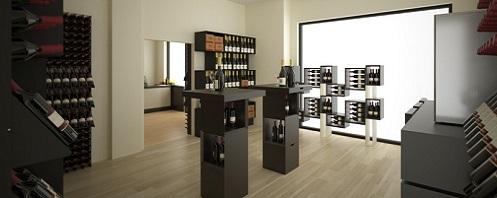 Arredamento per il vino esigo su misura for Arredamento enoteca