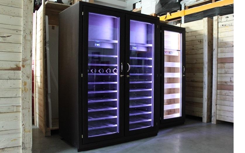 Arredo con cantine climatizzate su misura for Arredamento cantina vino