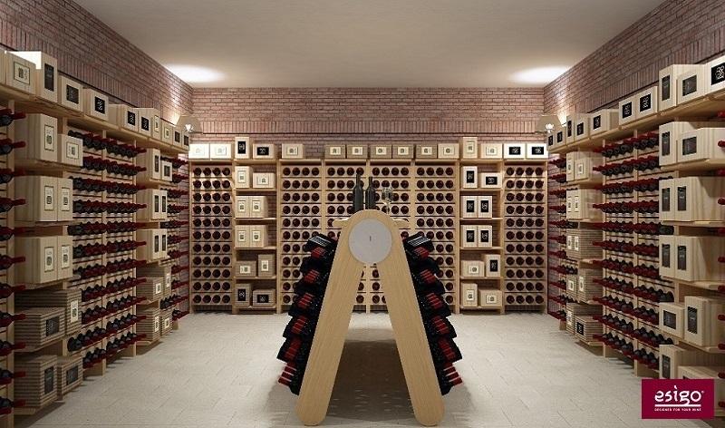 Gallery arredamento esigo per cantina - Porta vino legno ...