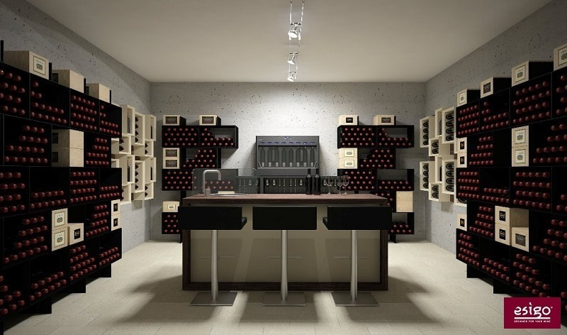 Gallery arredamento esigo per cantina for Arredamento enoteca wine bar