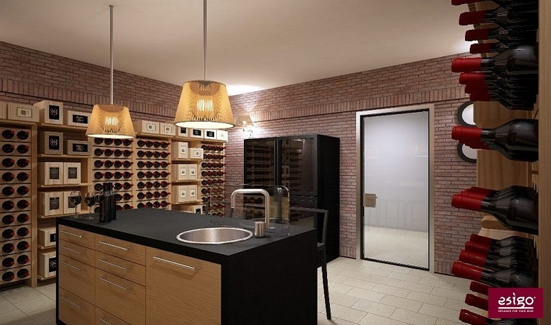 Interesting arredamento esigo per cantina with arredare for Arredare la cantina