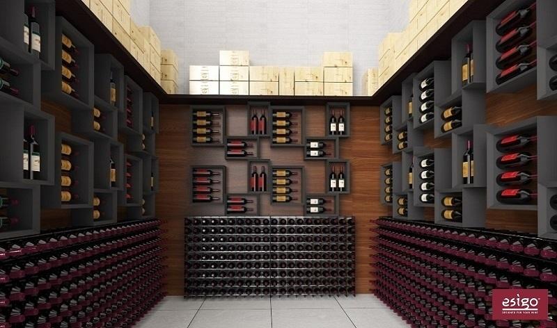 Gallery portabottiglie esigo 2 net for Arredamento cantina