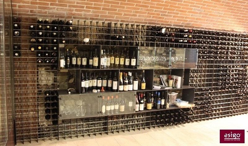 Gallery portabottiglie esigo 2 box - Porta vino da parete ...