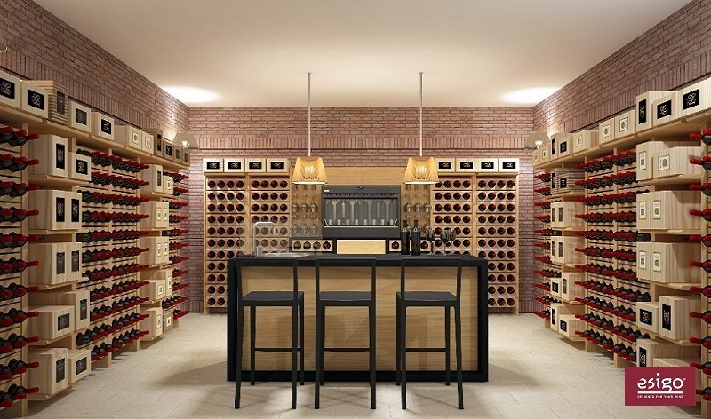 cantinetta vini in legno esigo 2 classic