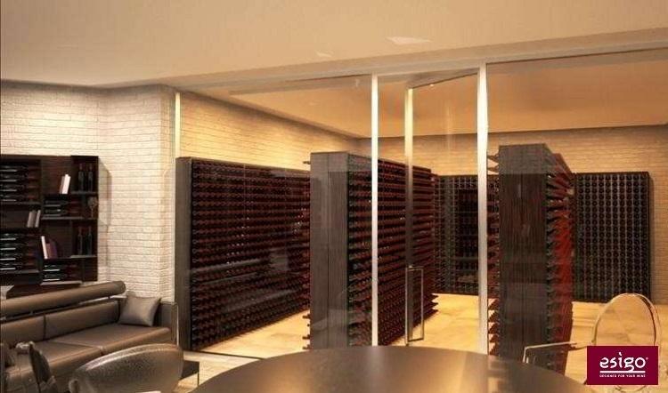 Mobile porta bottiglie vino in acciaio Esigo 2 Wall