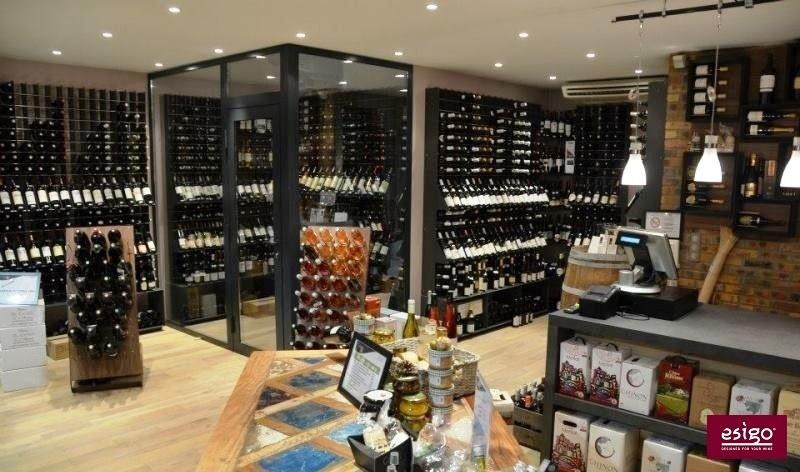 Gallery portabottiglie esigo 4 for Arredamento wine bar