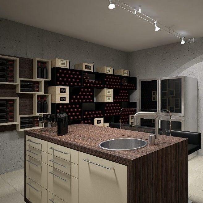 Esigo portabottiglie di design arredamento enoteca e for Arredamento enoteca wine bar