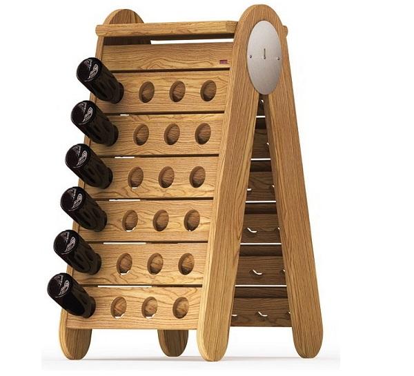 Porta bottiglie vino in legno esigo - Portabottiglie in legno da parete ...