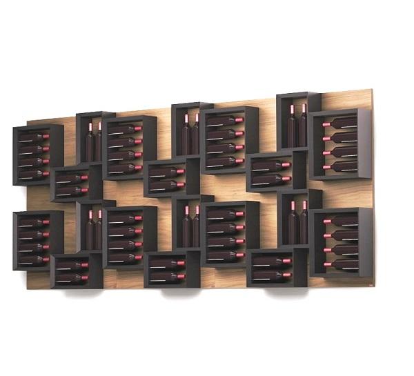 Portabottiglie in legno esigo 5 composizione - Portabottiglie di vino in legno ...