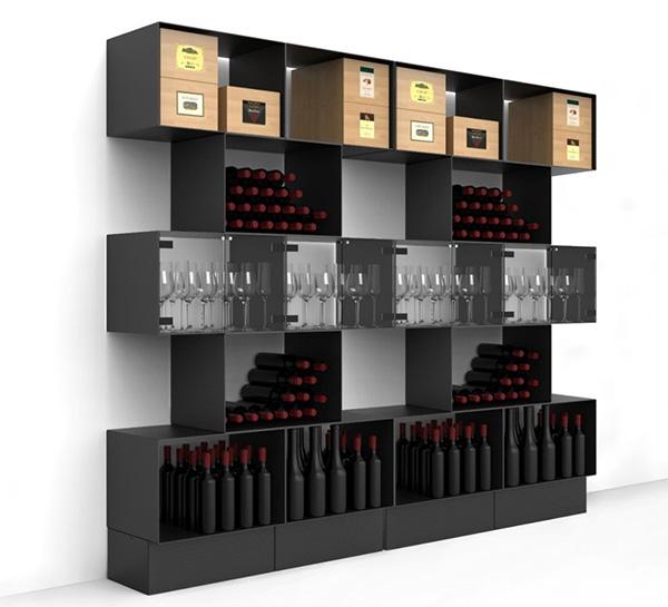 Moderno Portabottiglie Vino Da Parete Design.Portabottiglie Di Design Esigo
