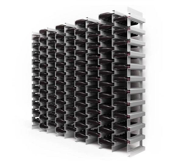 Portabottiglie in acciaio esigo 2 file - Portabottiglie acciaio ...