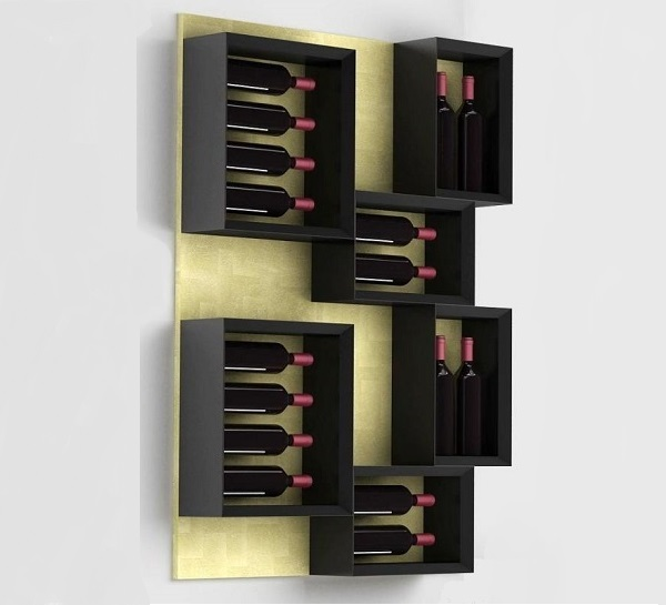 Portabottiglie da parete esigo - Portabottiglie in legno da parete ...